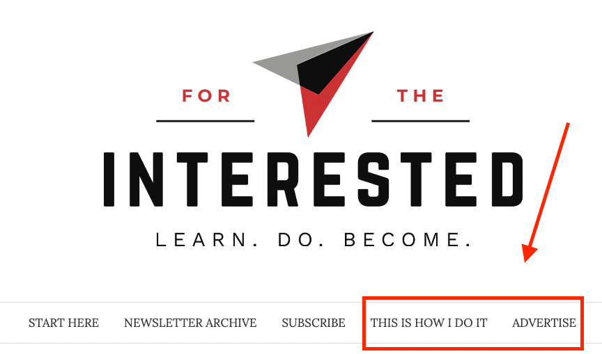 homepage for the interested