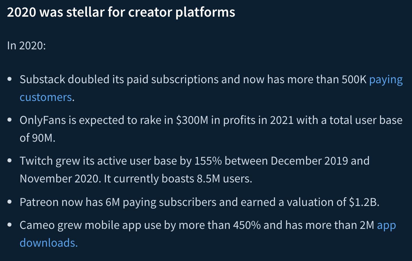 indie hackers post on the creator economy