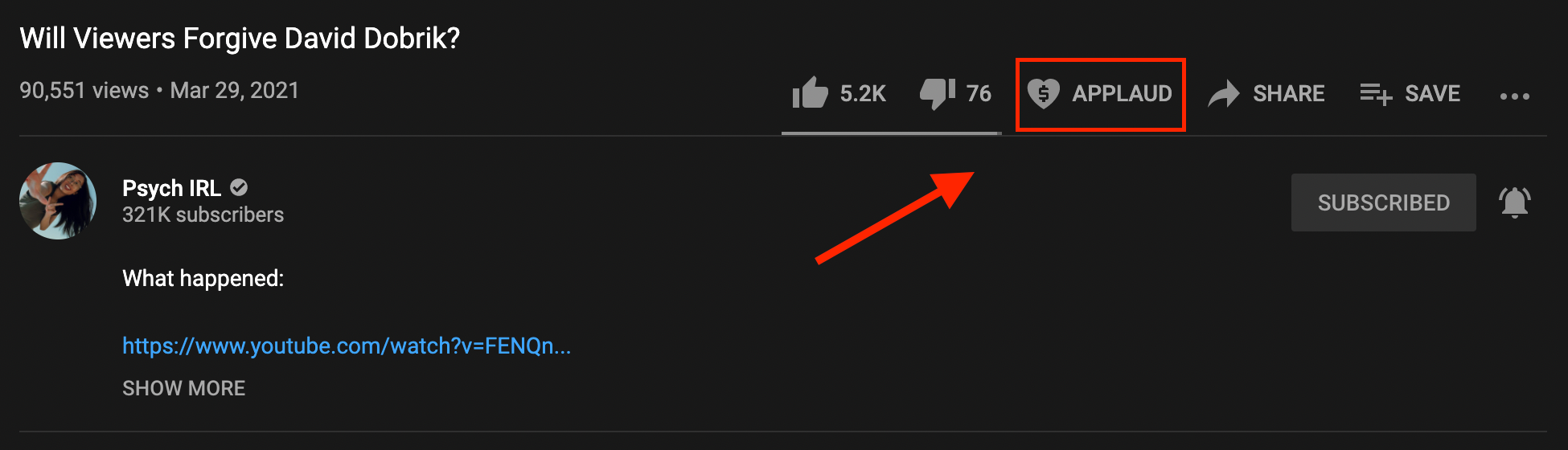 youtube applause