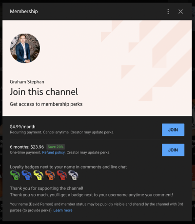 youtube membership