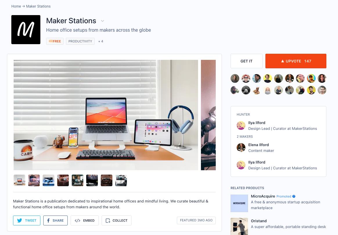 product hunt maker stations